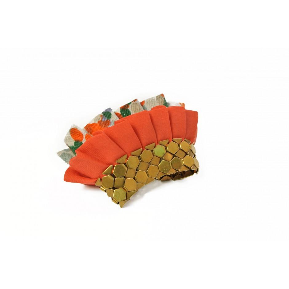 Manchette Hula orange et pois