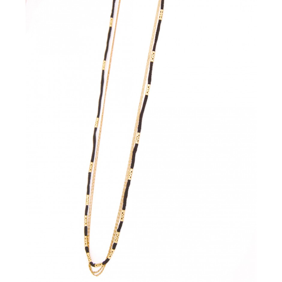 Rosine burgundy long necklace