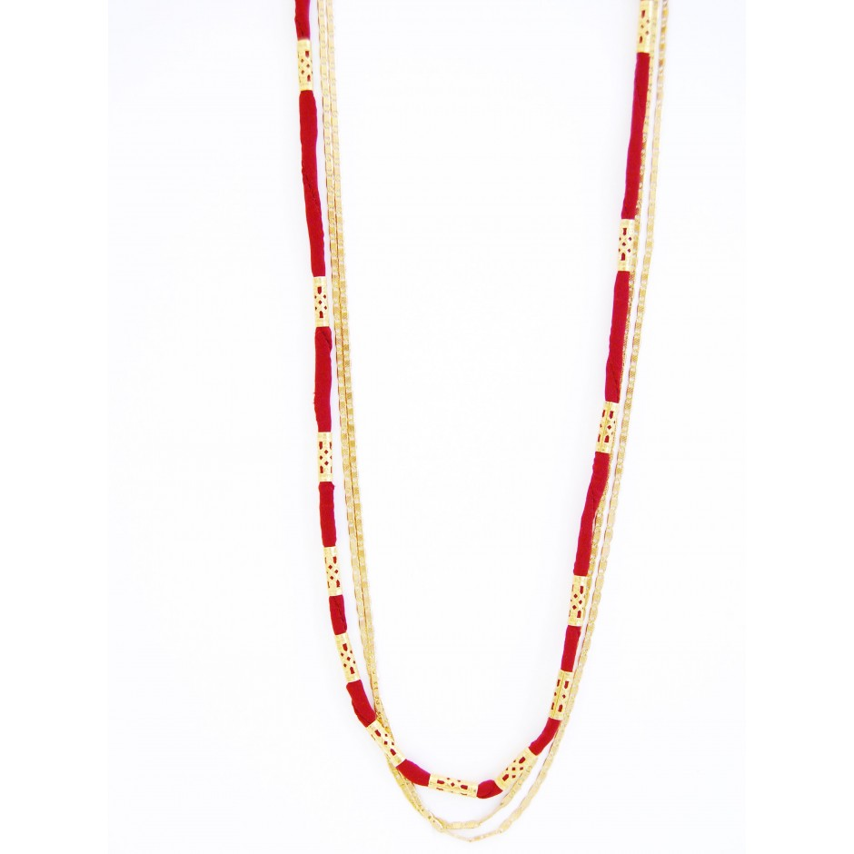 Alexandrie black long necklace