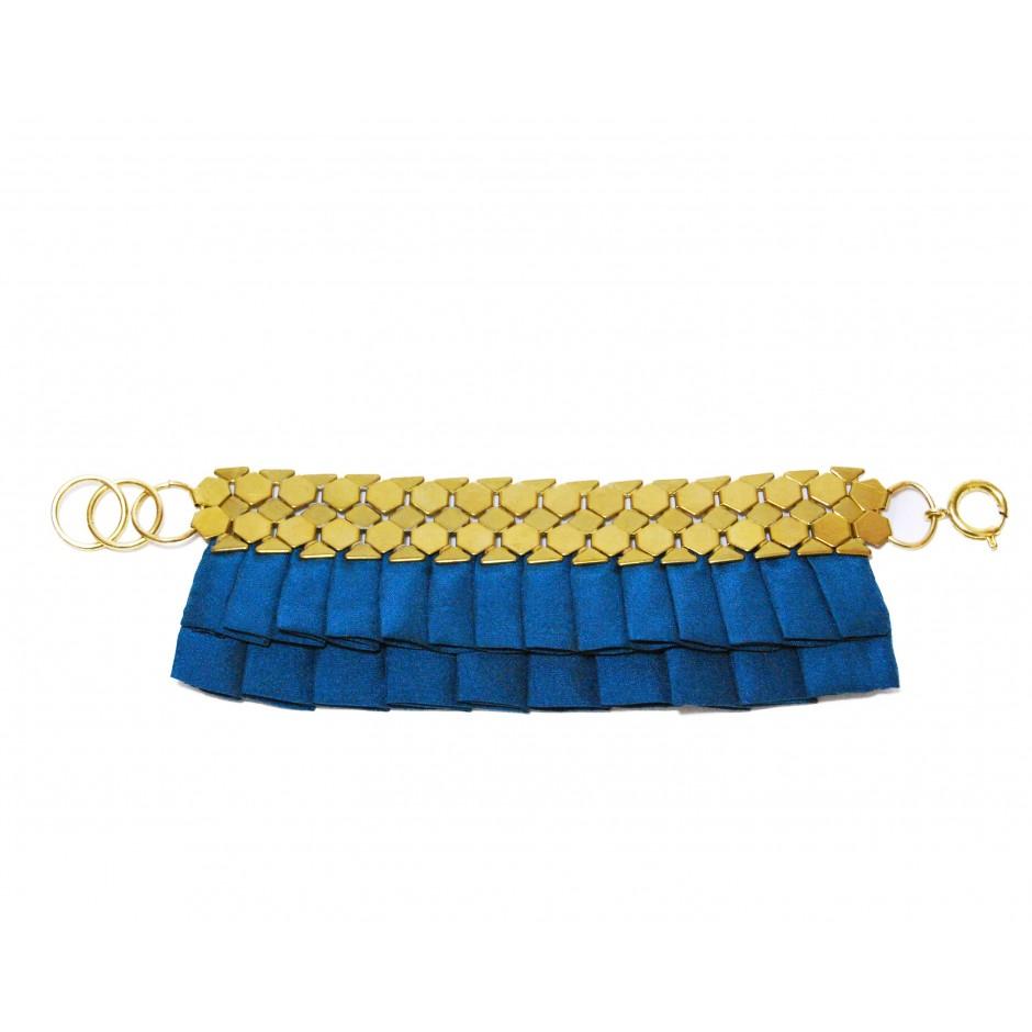 Hula peacock blue cuff bracelet