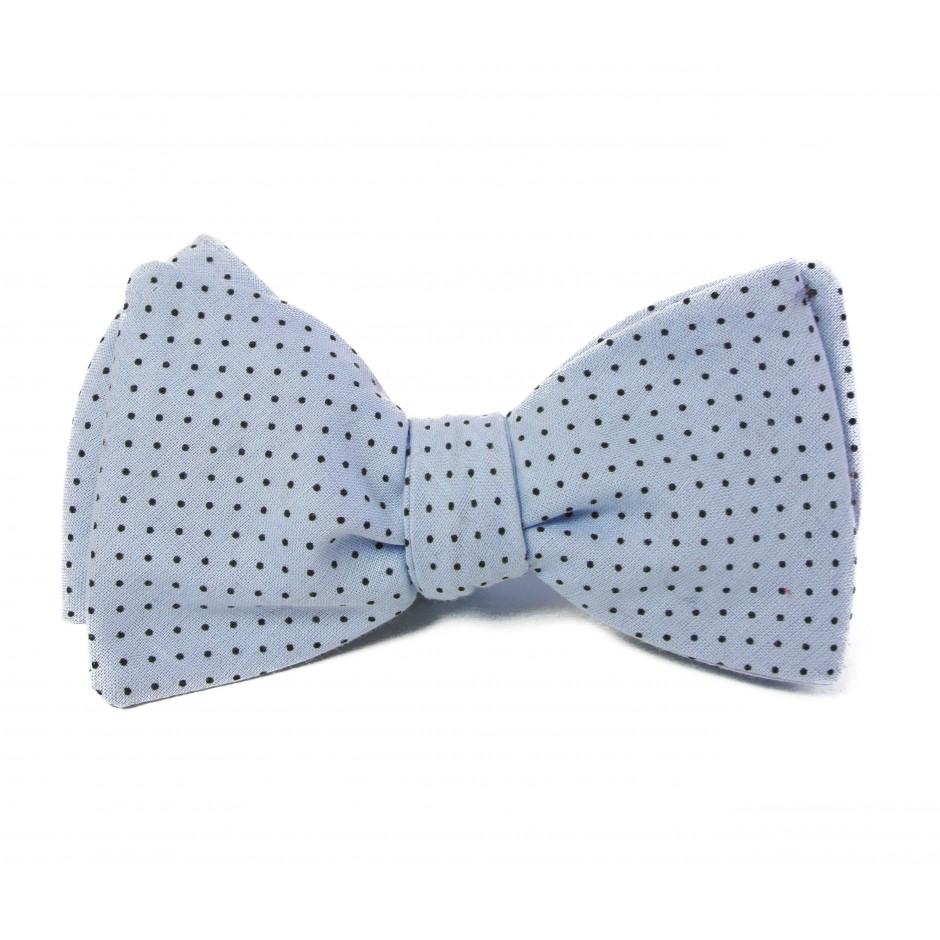 Leon blue bow tie