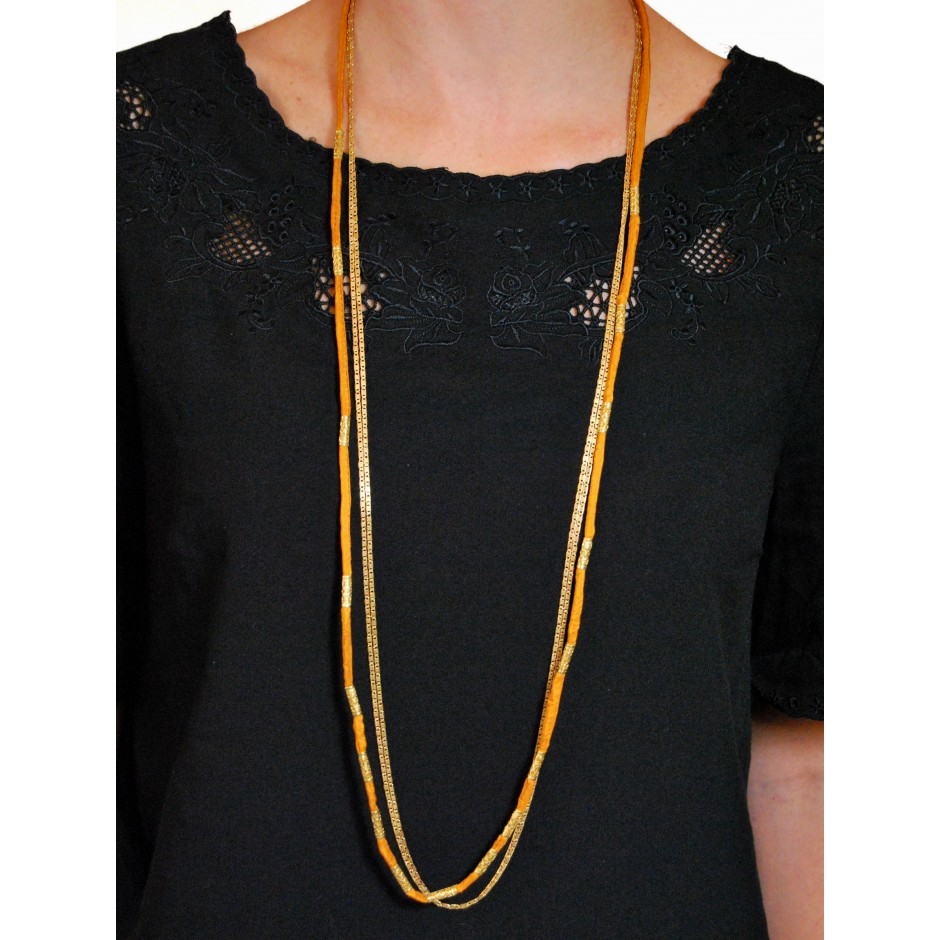 Alexandrie orange long necklace
