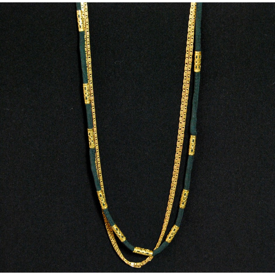 green Alexandrie long necklace