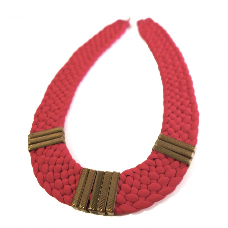 Osiris red coral necklace