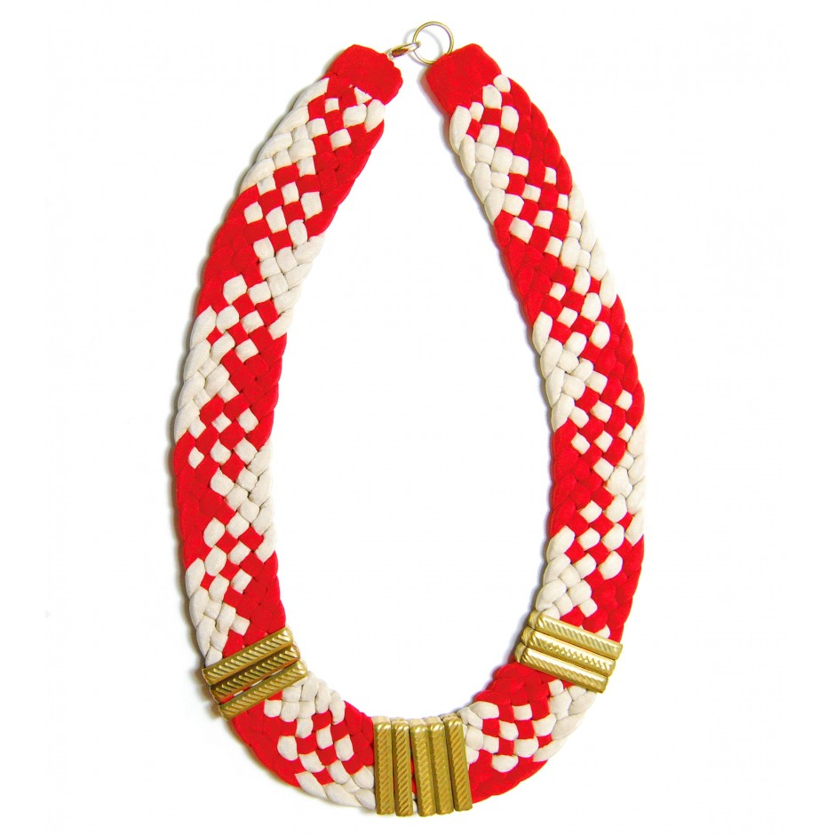 Osiris red and ivory  necklace
