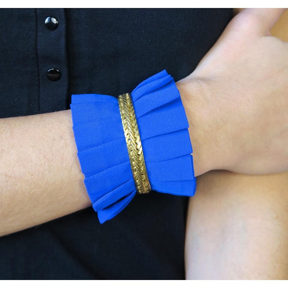 Hawaii electric blue cuff bracelet