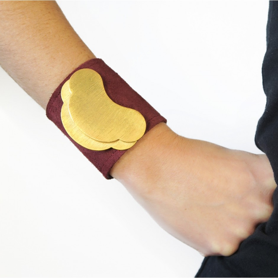 Constantine red and burgundy cuff bracelet