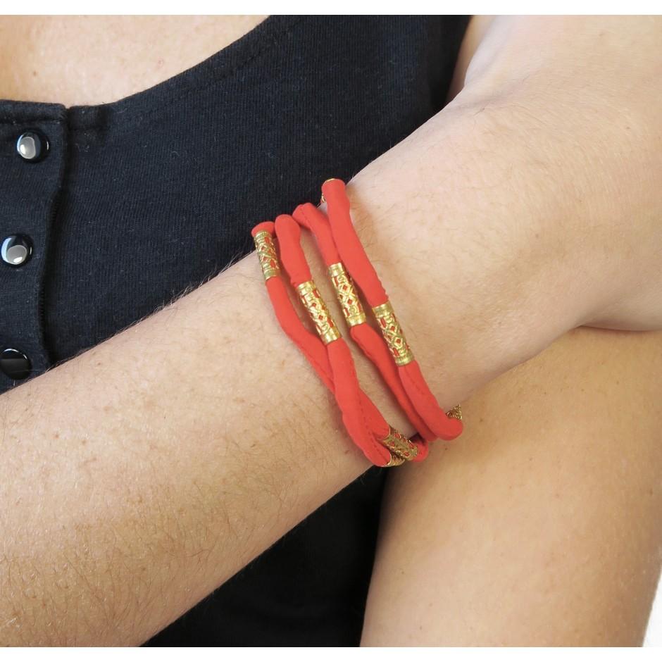 Pharos coral red bracelet