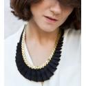 black necklace Emeraude