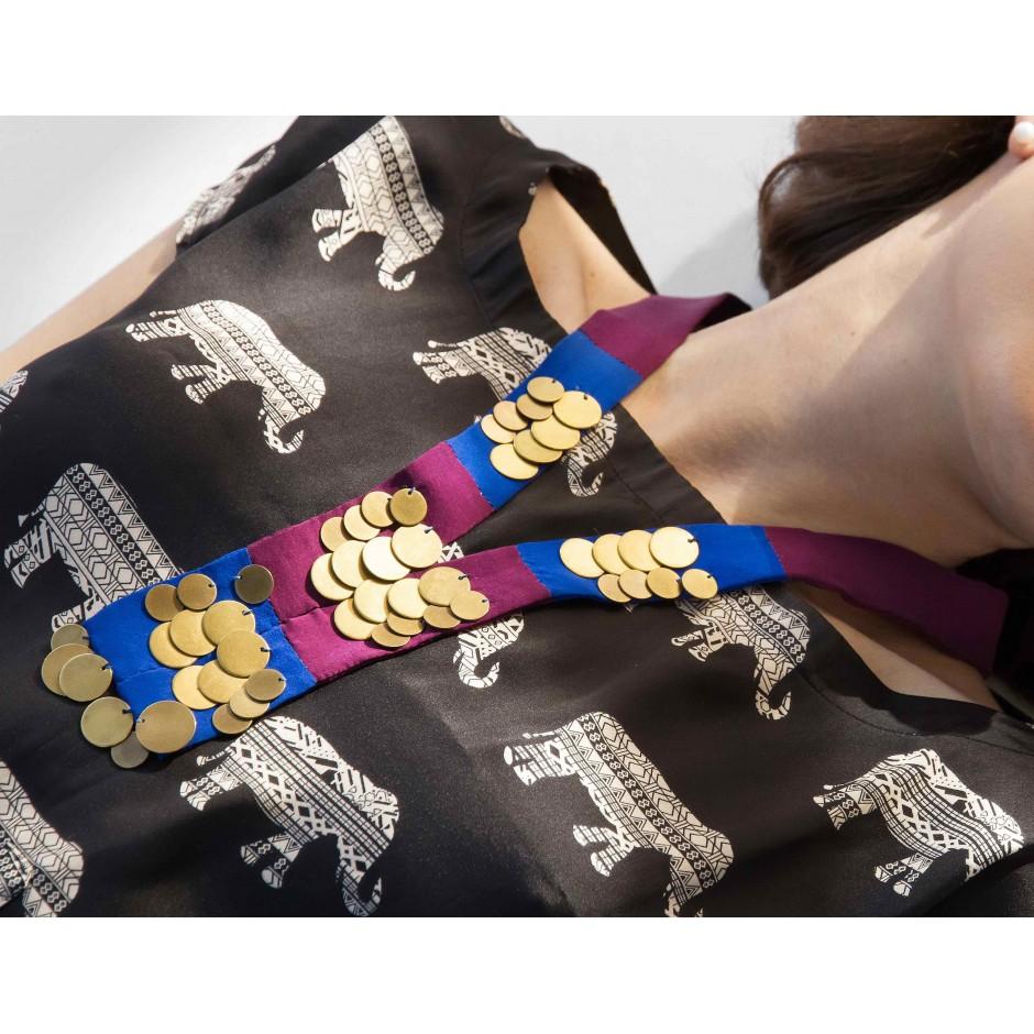 Kahina blue and purple necklace