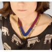 Lalla blue and purple necklace
