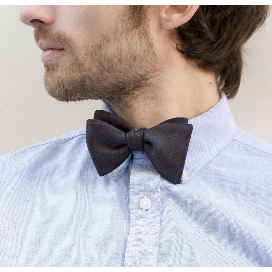 Tillion blue brown bow tie