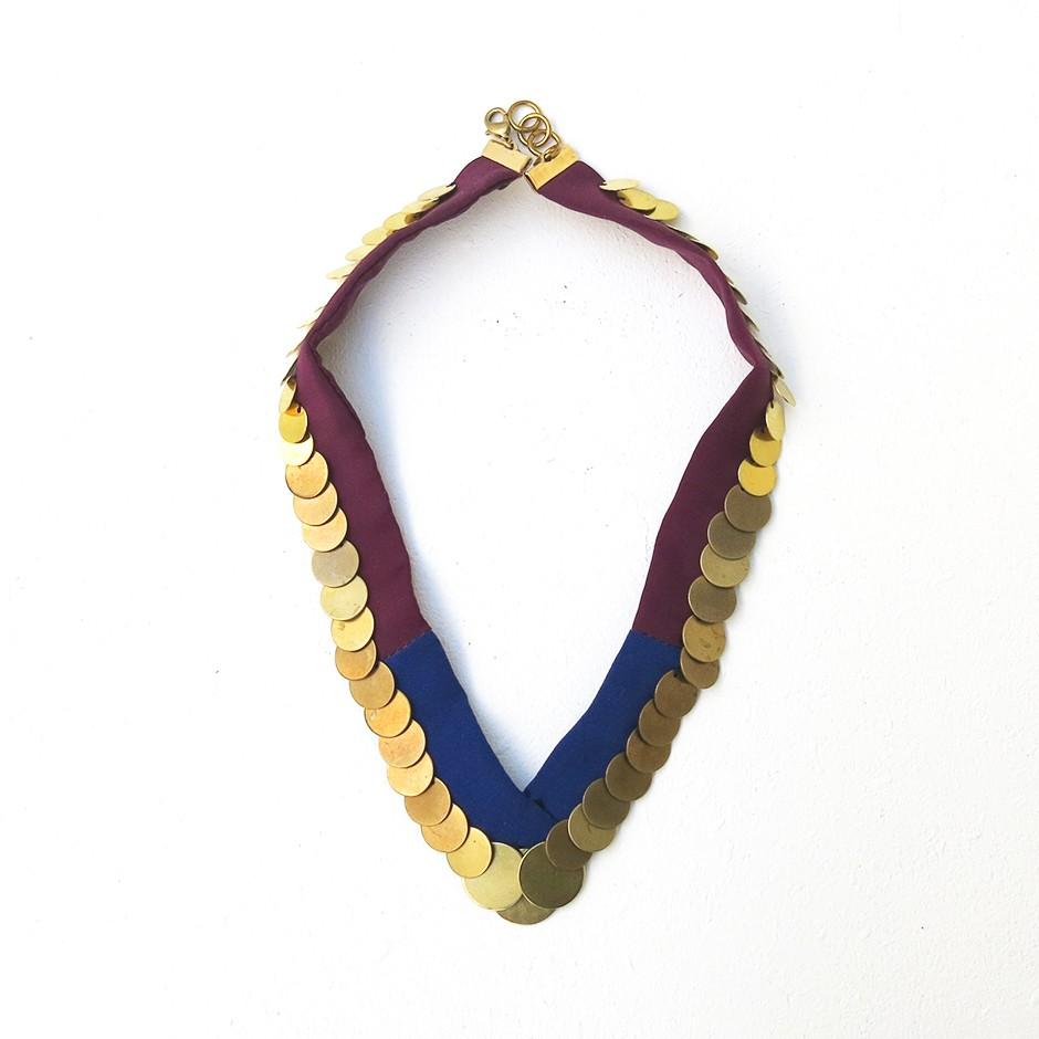 Collier Lalla violet et bleu