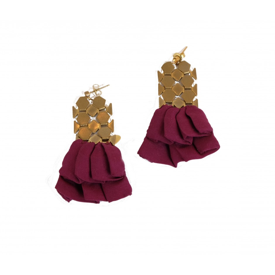 Hula dark purple earrings