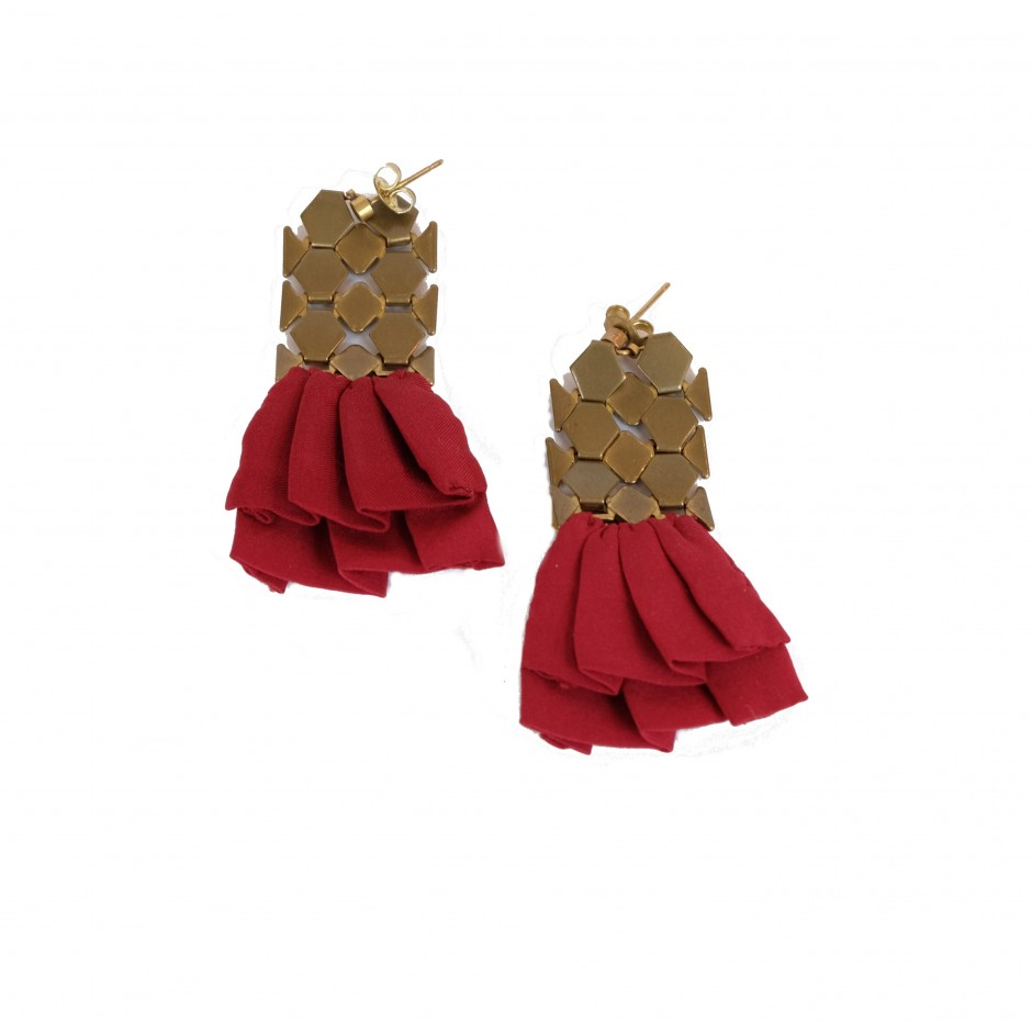 Hula burgundy earrings