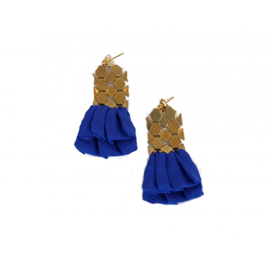 Boucles d'oreilles Hula bleues électriques