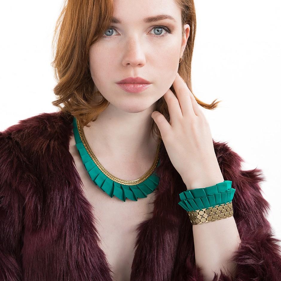 Hula green turquoise cuff bracelet