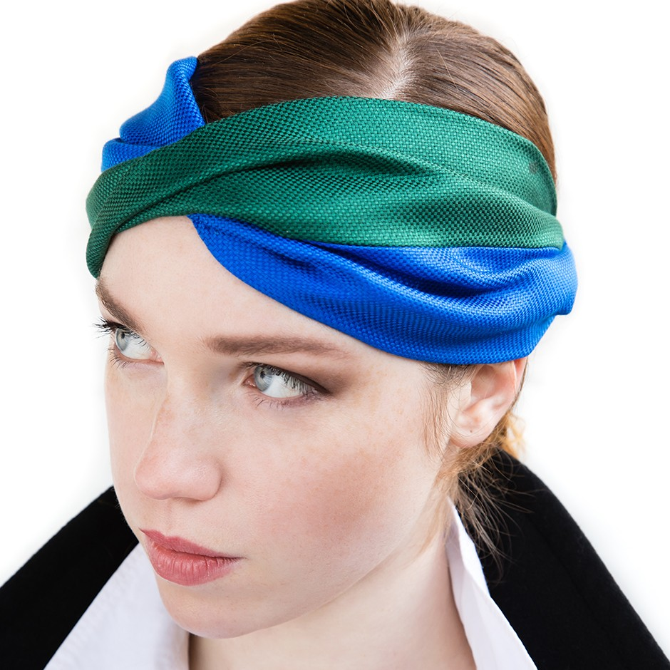 Grace blue & green headband