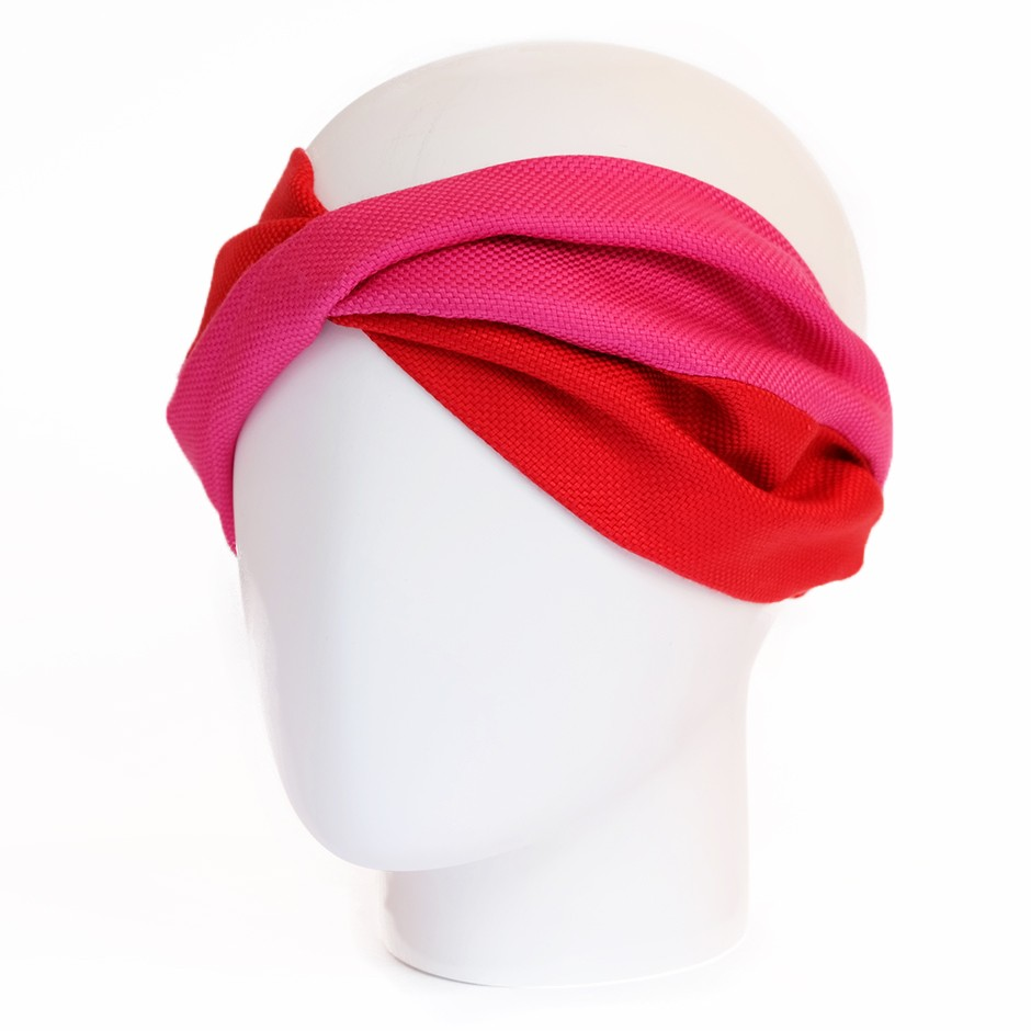 Grace pink & red headband