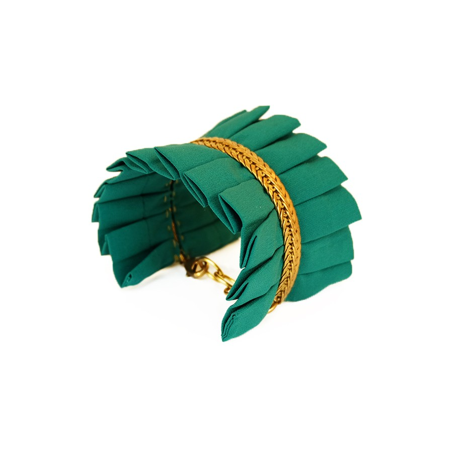 Hawaii green cuff bracelet