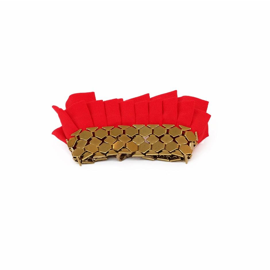 Hula red cuff bracelet