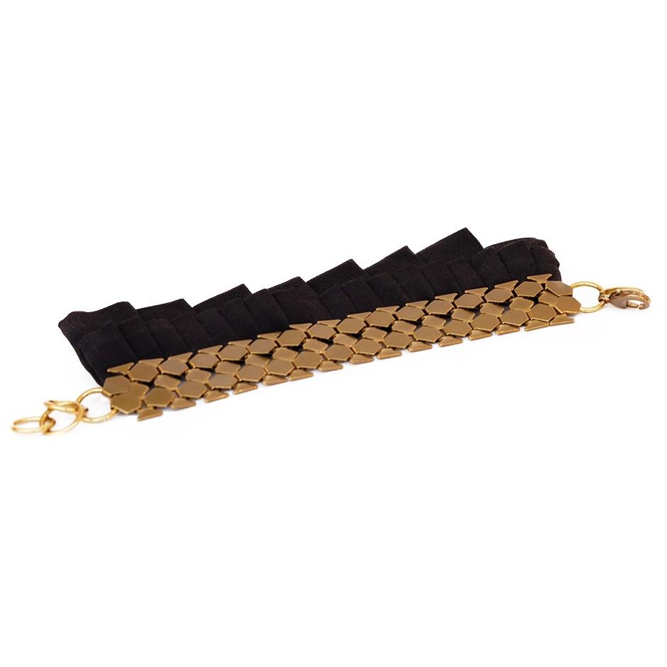 Hula black cuff bracelet