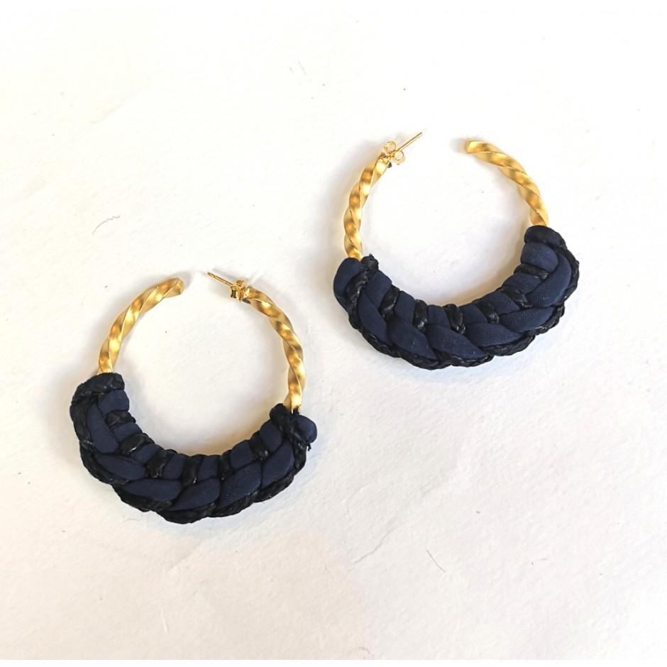 Blue hoop earrings Guadalupe