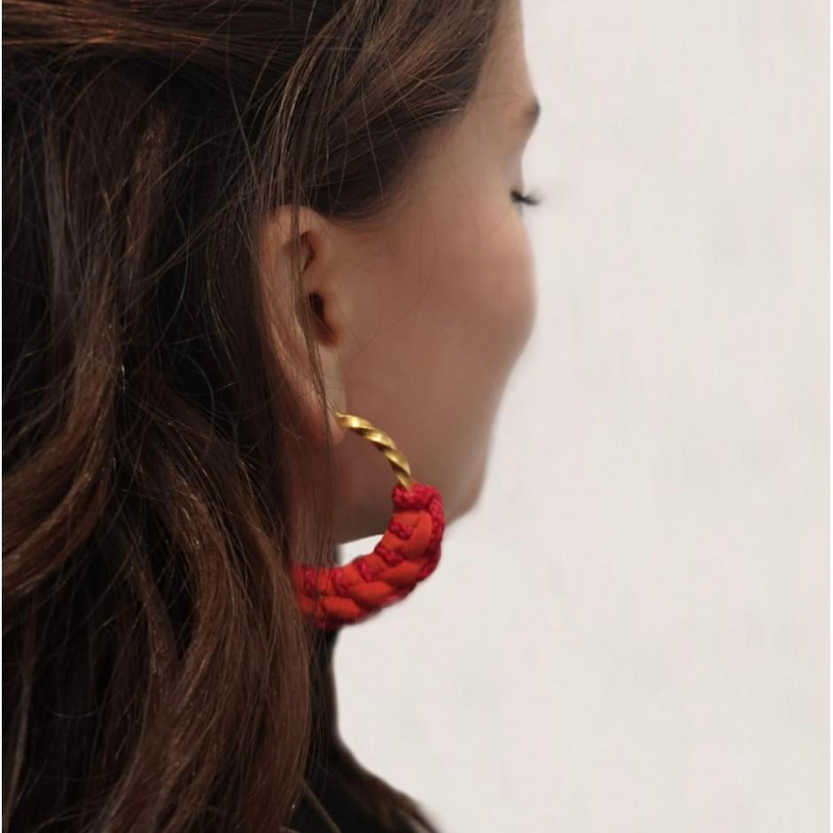 Orange hoop earrings Guadalupe