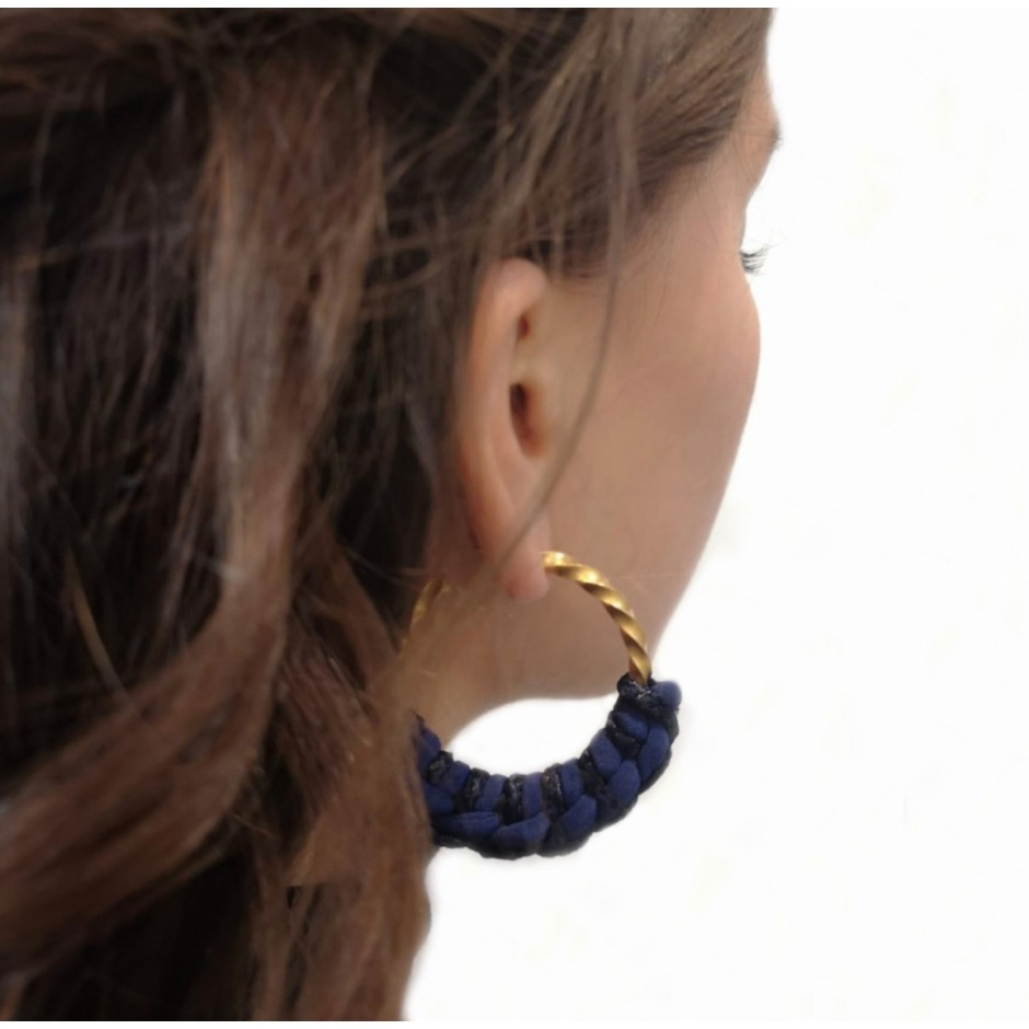 Blue hoop earrings Guadalupe