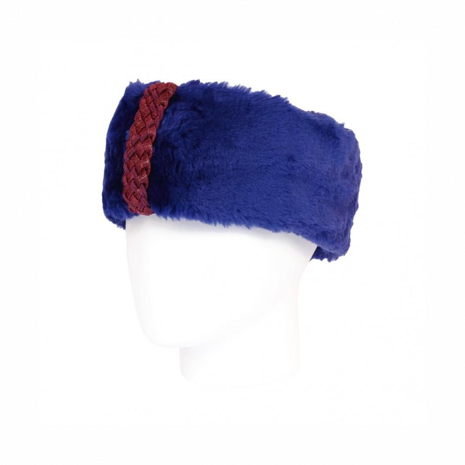Electric blue ushanka headband