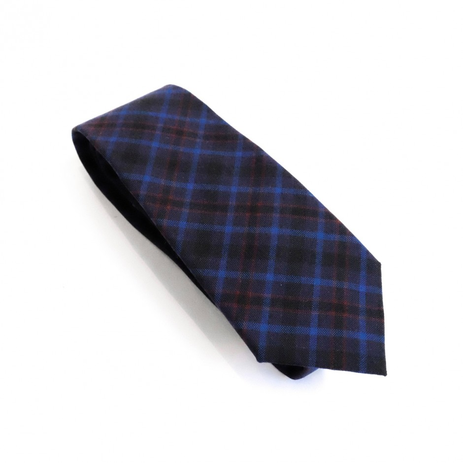 Cravate bleu écossais