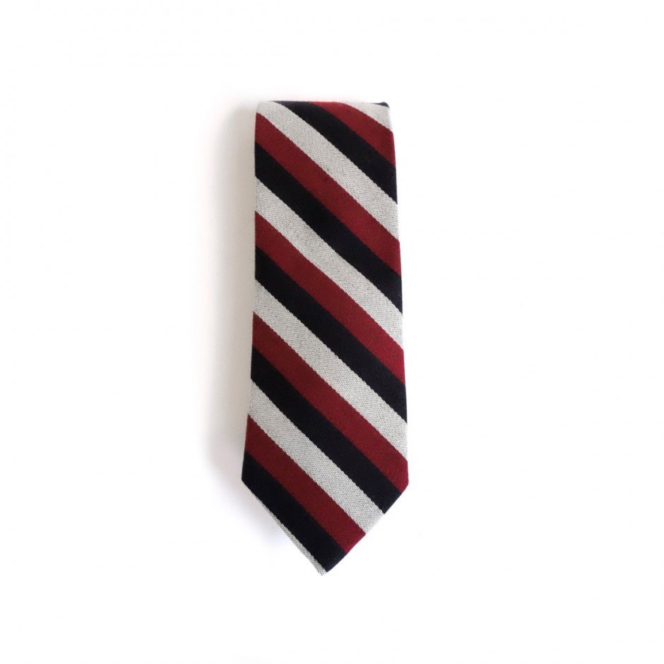 Navy and red club tie