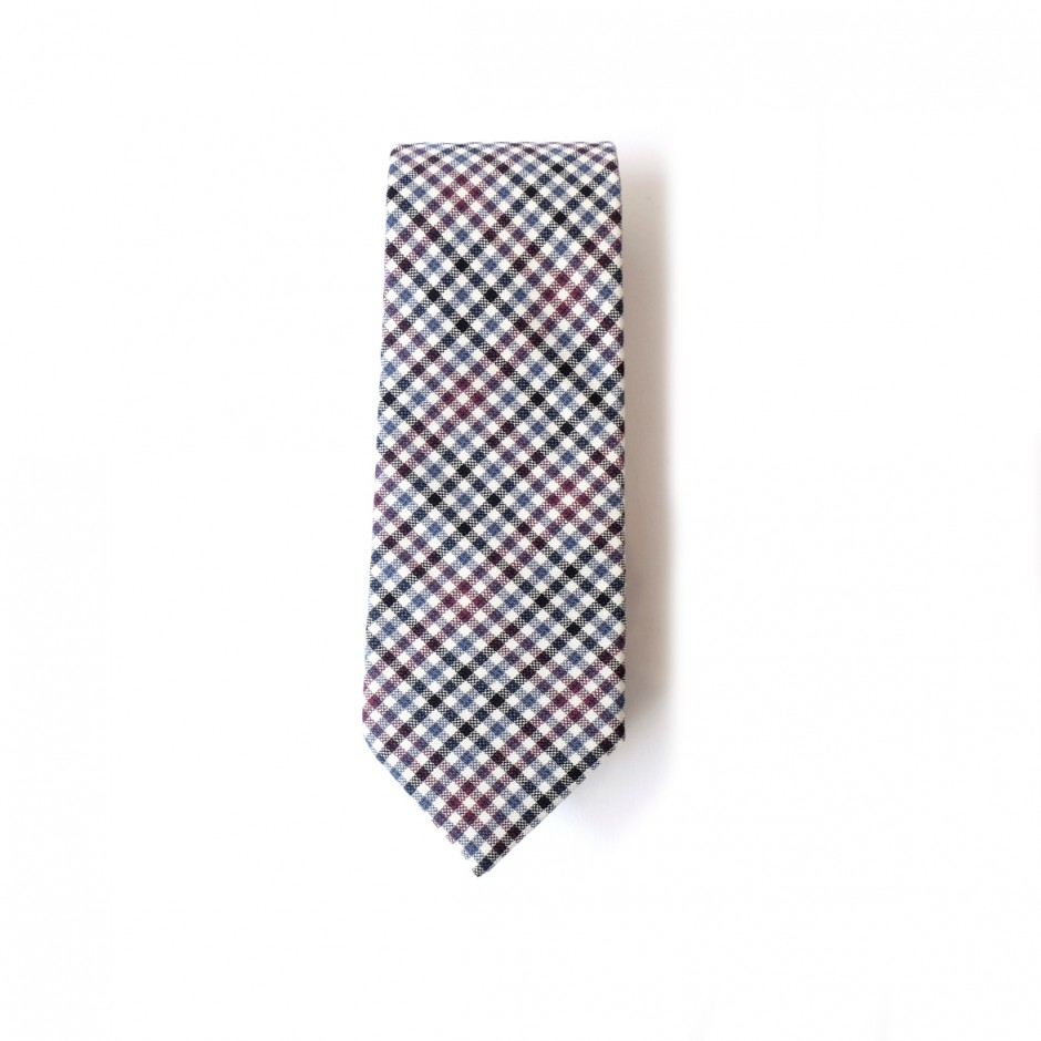 Paris grey wool tie