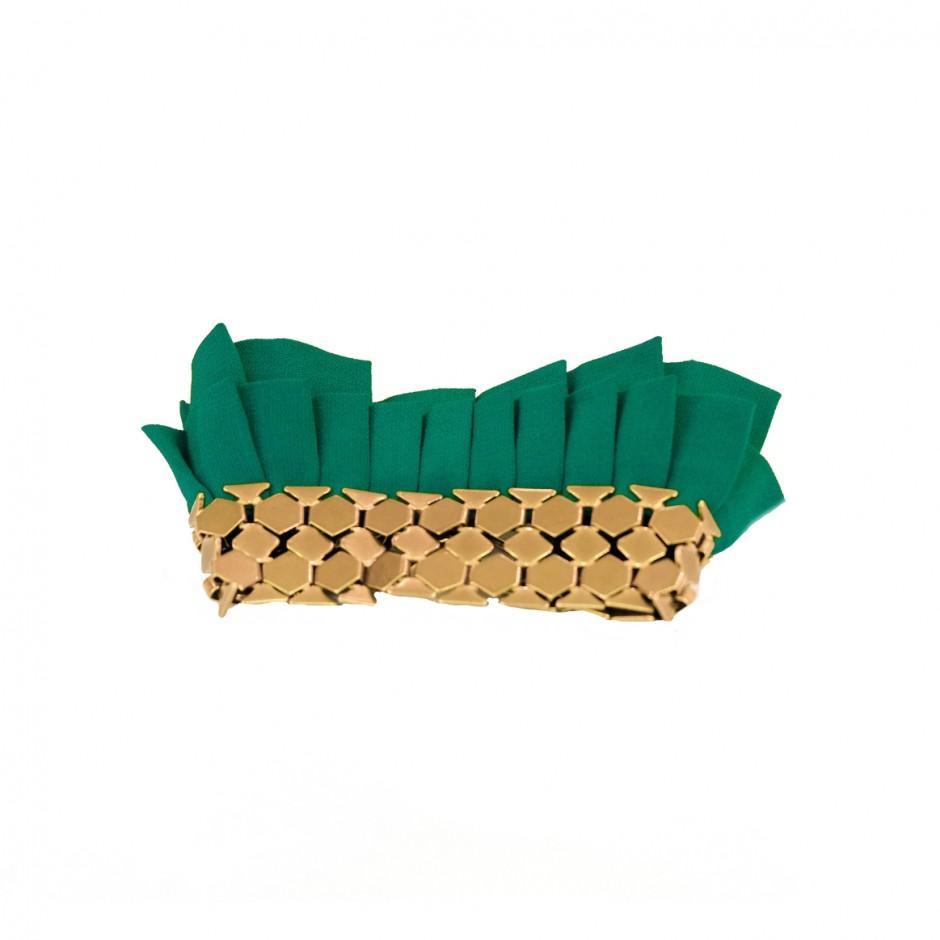 Hula green cuff bracelet