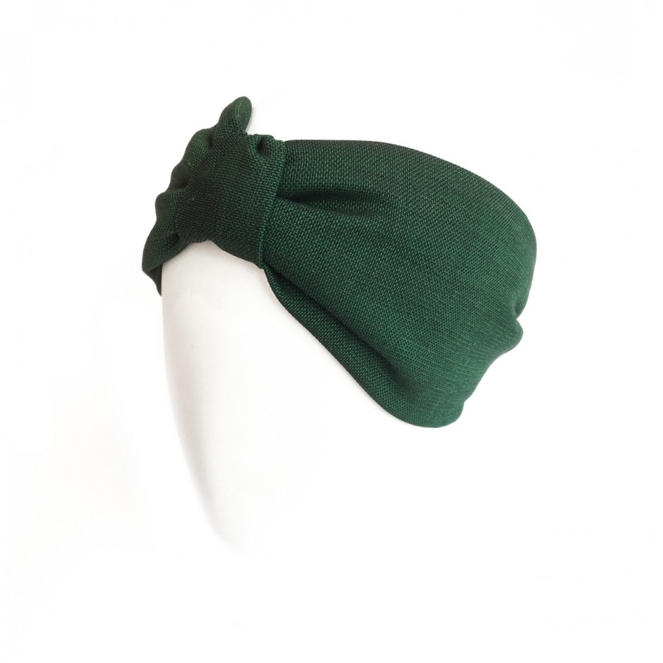 Headband Bernadette vert bouteille