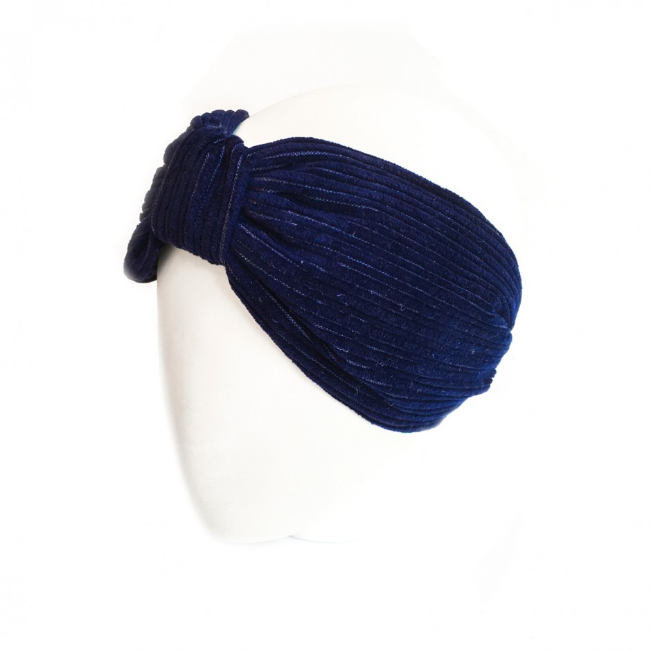 Bernadette navy blue headband