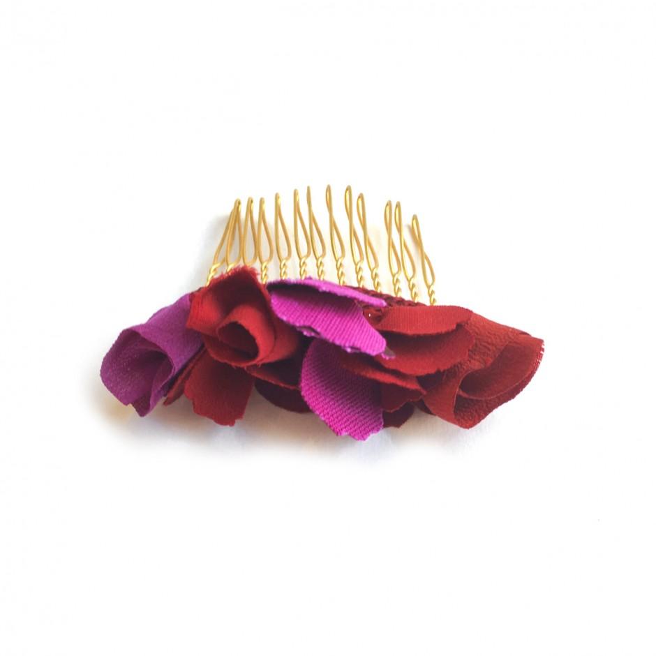 Coralie black velvet headband