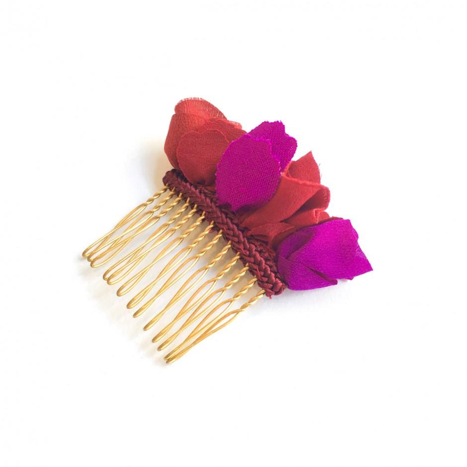 Manuela fuchsia burgundy comb PM