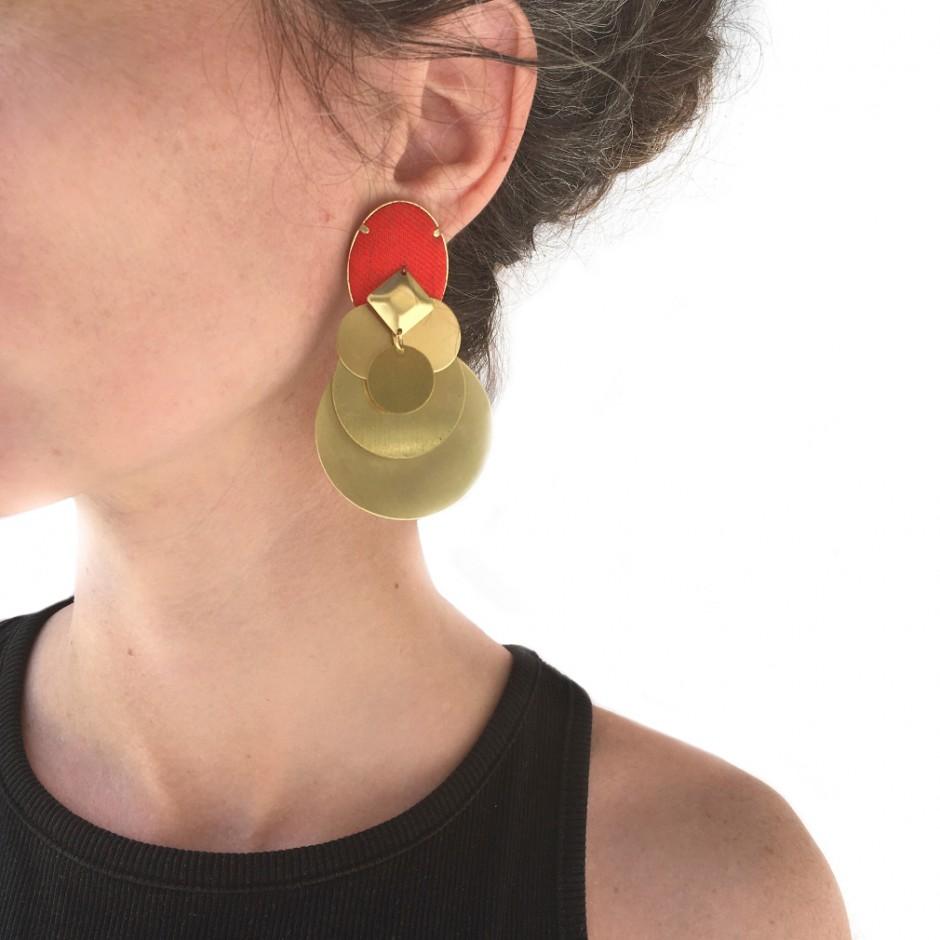 Red earrings Beatriz