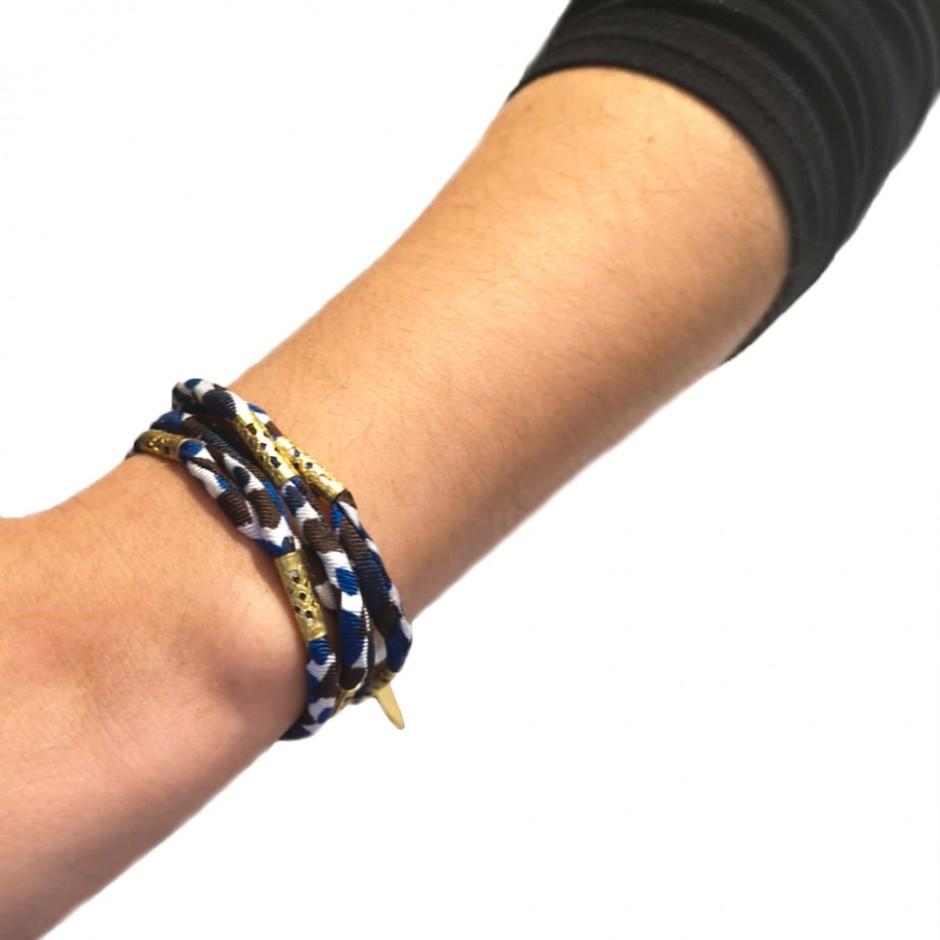 Pharos all over blue bracelet