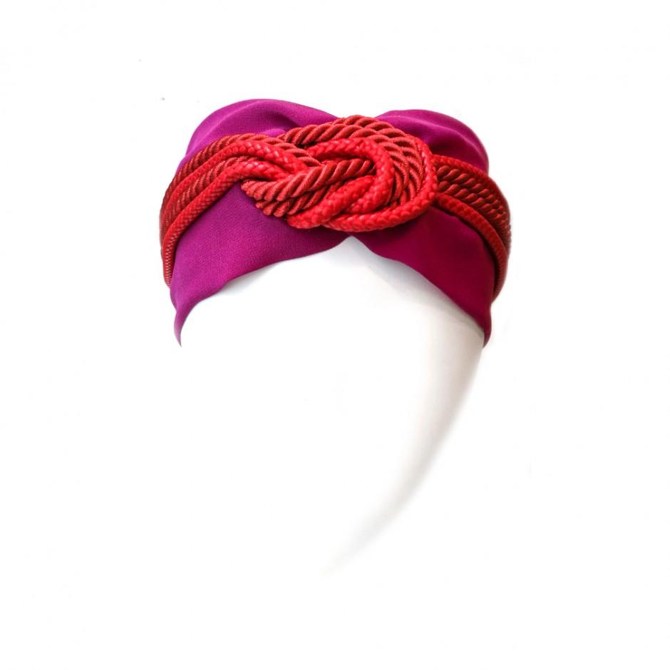 Headband Marine rouge et violet
