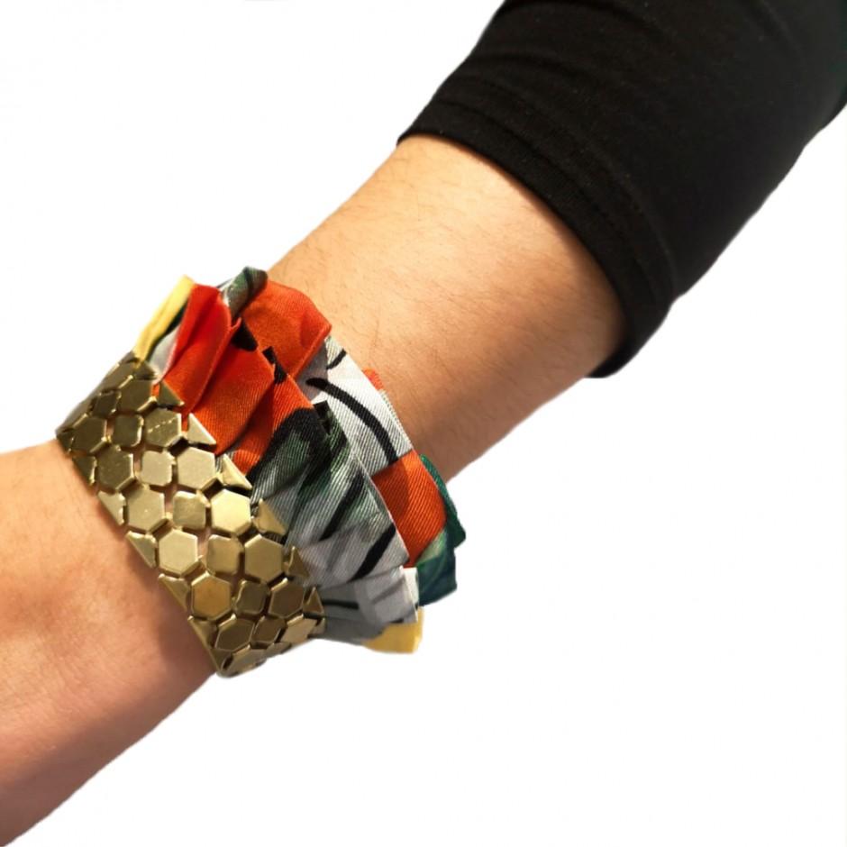 Hula jungle cuff bracelet