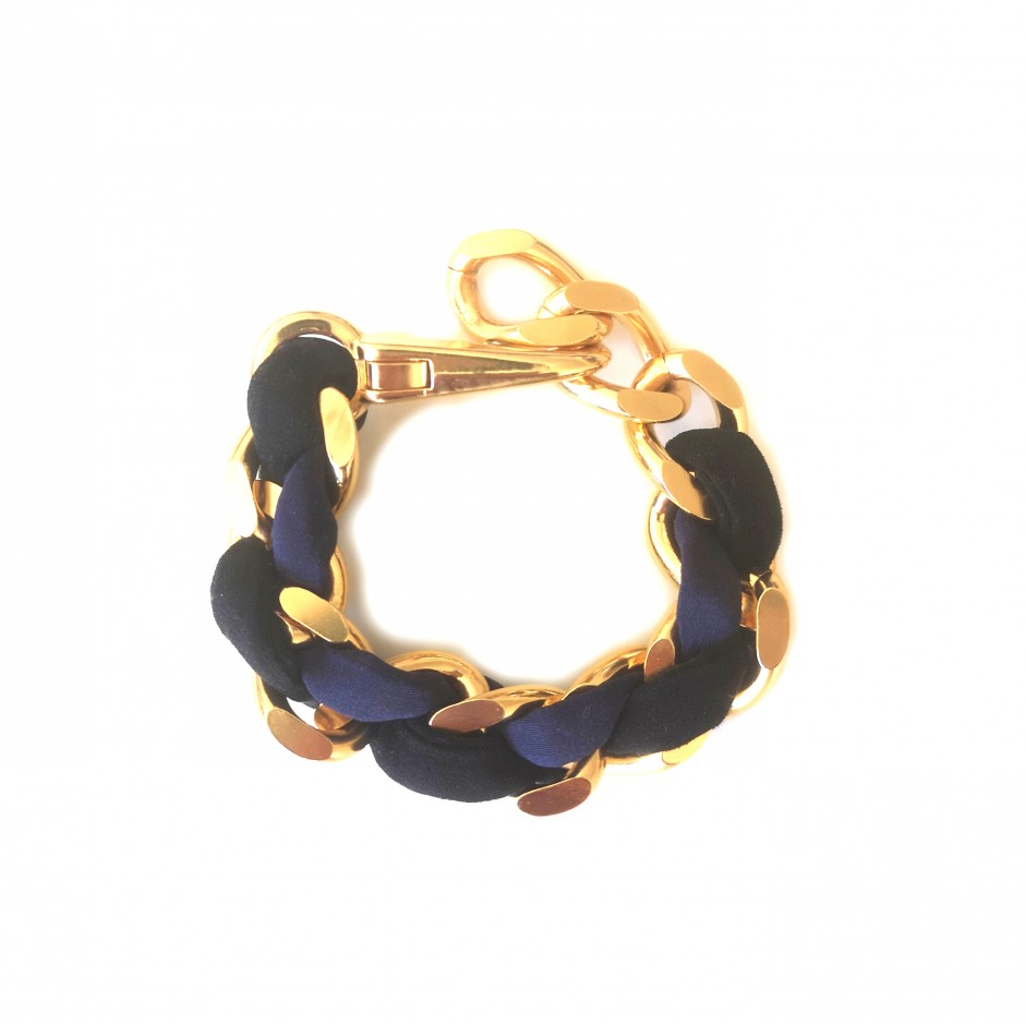 Bracelet Mousqueton black and navy blue