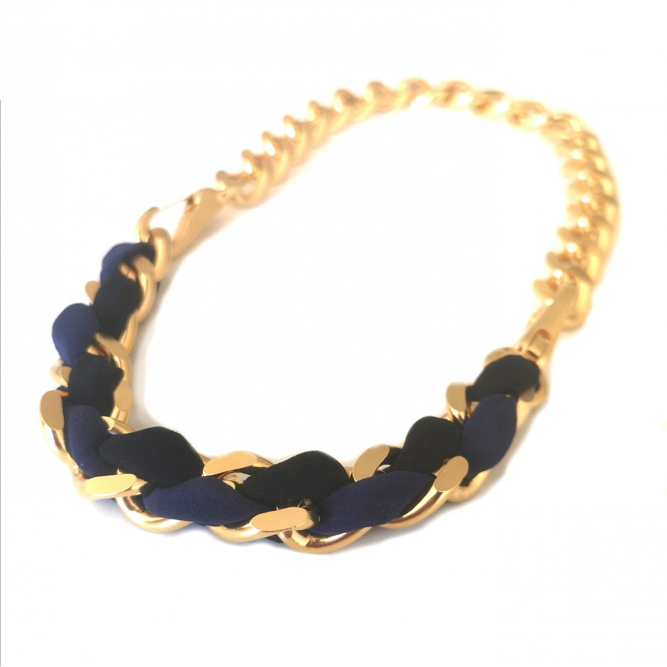Necklace Mousqueton black and navy