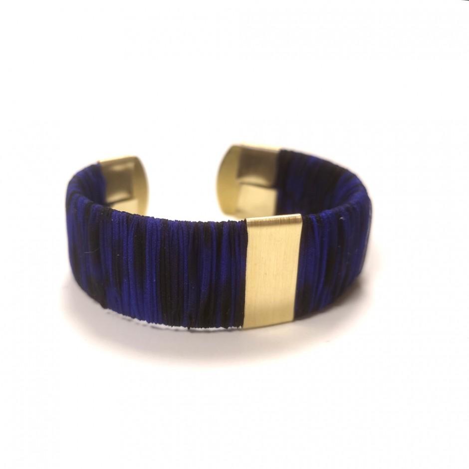Leopard blue Twiggy cuff bracelet S