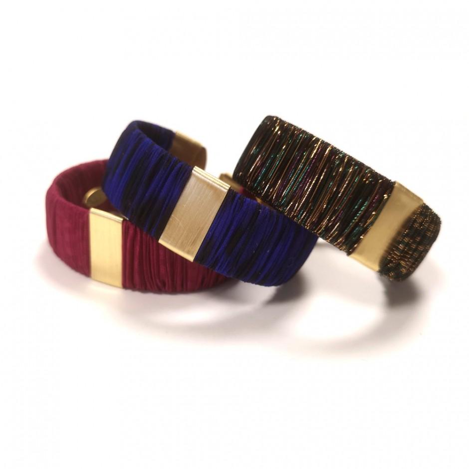 Dark pink Twiggy cuff bracelet S