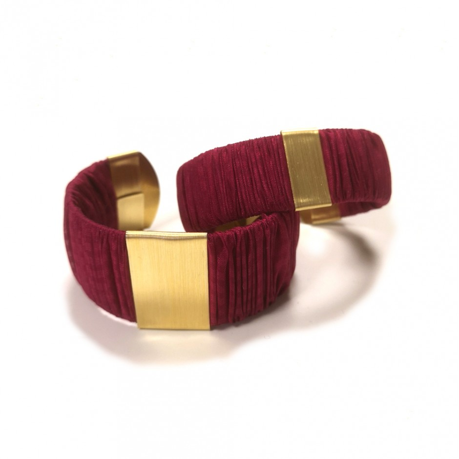 Large Twiggy black and yellow cuff bracelet
