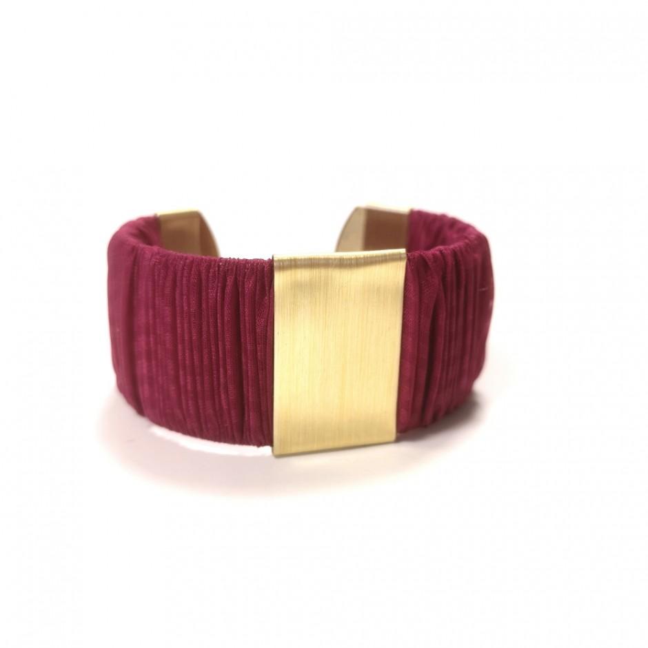 Large Twiggy dark pink cuff bracelet