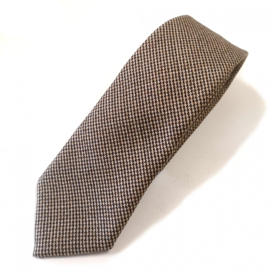 Brown  houndstooth tie Chicago