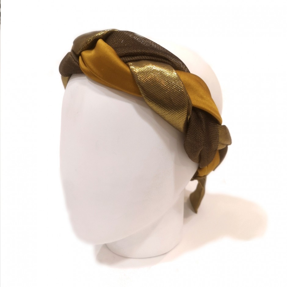 gold headband  Tresse